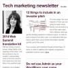 Tech Marketing newsletter