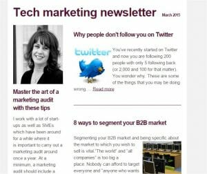 Tech Marketing newsletter