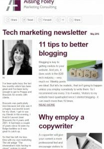 Tech Marketing Newsletter May 2016
