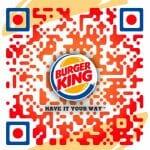 Custom QR code for Burger King Kuwait