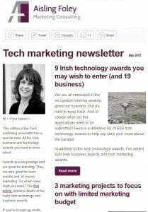 Technology Marketing newsletter