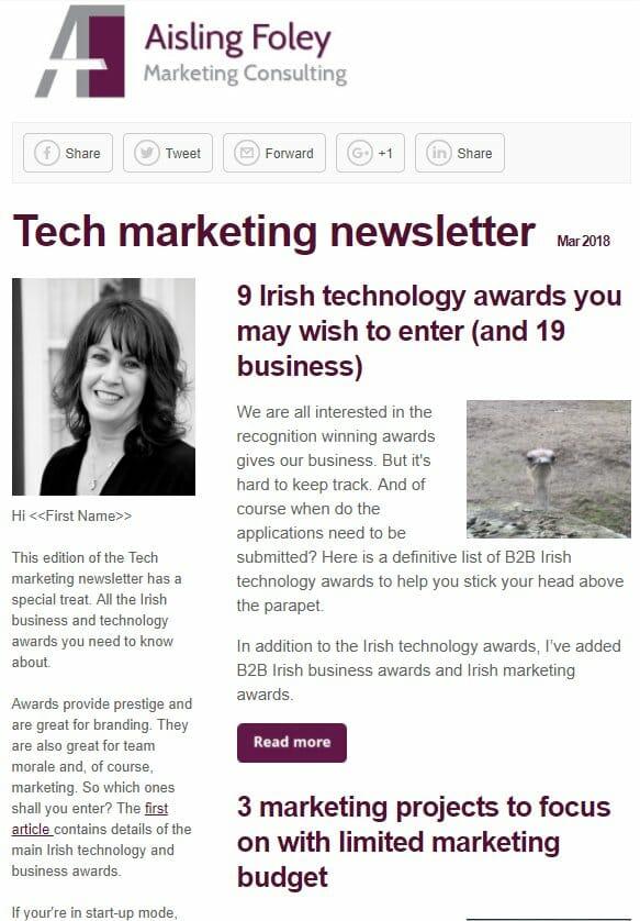 Technology Marketing newsletter